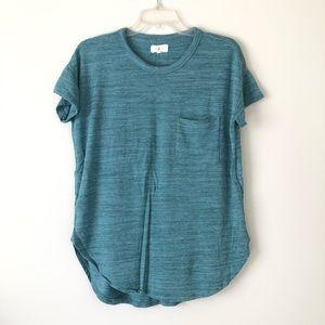 Lou & Grey Signaturesoft Pocket Tunic Tee Green M